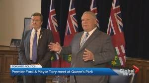 John Tory sits down for first meeting with Doug Ford following Toronto election