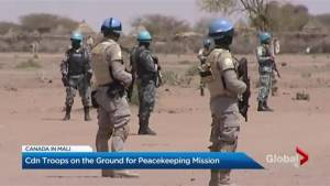 Canadian troops on the ground for peacekeeping mission