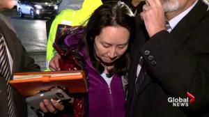 Huawei CFO Meng Wanzhou leaves B.C. courthouse surrounded by media