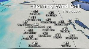 Saskatoon weather outlook: -50 wind chills return to kickoff February