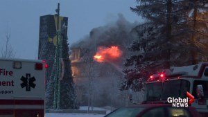 Historic Calgary home goes up in flames