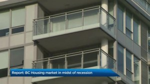 Analysis on new report suggesting B.C.'s housing market is in the midst of a recession