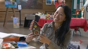 Calgary artists create eye-catching birdhouses to raise money for community centre renos