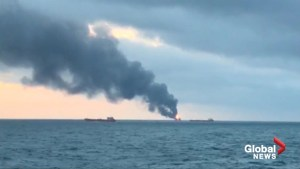 Ten sailors dead, 14 saved after two ships catch fire near Crimea
