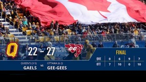 Queen's Gaels' football head-coach Pat Sheahan recaps Saturday's 27-22 loss to the Gee-Gees in a playoff contention game