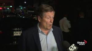 Mayor Tory issues statement following Danforth shooting, urges public to not jump to conclusions
