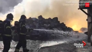 Large fire in Spain releases cloud of toxic magnesium gas into the atmosphere