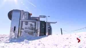 October storm shuts down rural bus routes, closes roads across southern Alberta