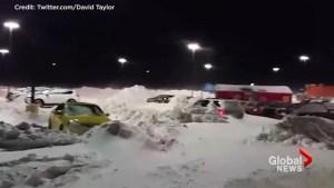 Winter blast causes hazardous road conditions in southern Alberta