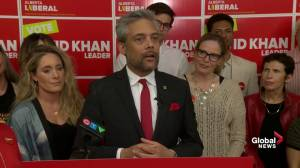 Alberta Election 2019: Liberal Party Leader David Khan congratulates UCP (03:30)