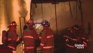 Bus on fire at Ambassatours