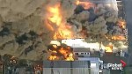 Aerial footage shows massive fire at chemical plant in Australia