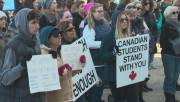 Play video: Alberta students join U.S. students in March For Our Lives