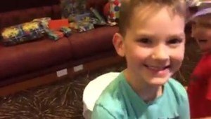 Fort McMurray evacuee family celebrates 5-year-old son's birthday
