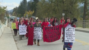 RCMP join march for missing and murdered women
