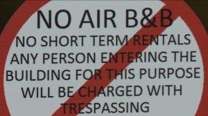 Strata threatens to report short-term renters as trespassers