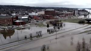 Drone video captures extent of Fredericton flooding
