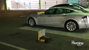 Tired of looking for a parking spot? A new robot can help you with that
