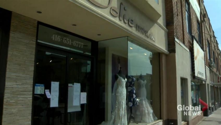 Bailiffs Open Toronto Bridal Shop After Sudden Closure In