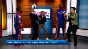 Harlem Globetrotters set to play 15 games in Ontario