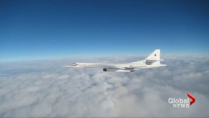 British air force scrambles fighter jets to intercept Russian bombers near U.K. airspace