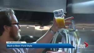 Doug Ford says incentives will convince brewers to lower prices (02:16)