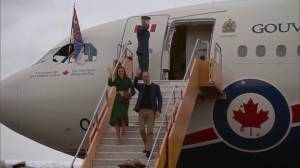 Prince William and Kate arrive at Whitehorse International Airport