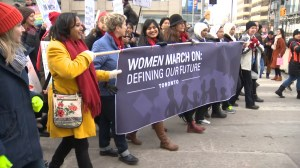 Thousands come together for second Women's March in Toronto