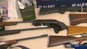 Stolen firearms seized in Red Deer
