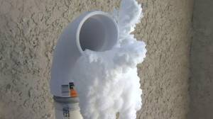 What to do about snow and ice buildup around furnace vents