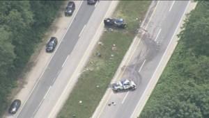 Fatal Highway 1 crash near Bridal Falls
