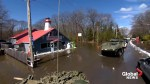 Military surveys Constance Bay floodwaters in Ottawa