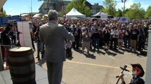 Protests inside and outside Global Petroleum Show in Calgary