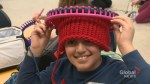 Calgary kids knit toques for the homeless: 'A Christmas gift for them'