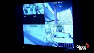 Surveillance video revealed that shows raid on home of the suspect in Capital One breach