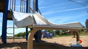 4-year-old boy reportedly injured by razor blades on slide at Calgary playground