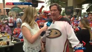 Edmonton hockey fans cheer on Oilers in Anaheim