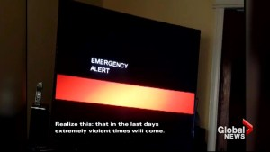 California TV viewers treated to bizarre emergency warning promising 'violent times'