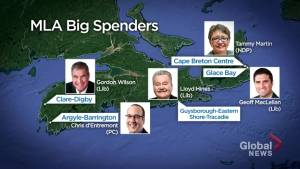 Nova Scotia MLA expense report rankings