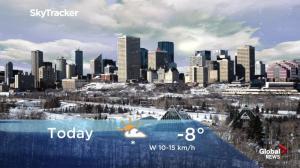 Edmonton early morning weather forecast: Wednesday, November 7, 2018