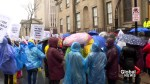 Protesters brave wet weather to raise concerns about Nova Scotia health care
