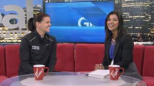 Soccer star Christine Sinclair helps raise funds and awareness around multiple sclerosis