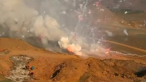 Peru authorities required, by law, to explode tonnes of illegal fireworks