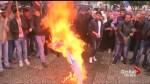 Palestinians set U.S., Israeli flags ablaze ahead of Trump's expected Jerusalem declaration