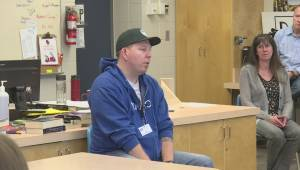 A B.C. man injured on the job shares the lesson he learned the hard way with Okanagan students to prevent others from being hurt