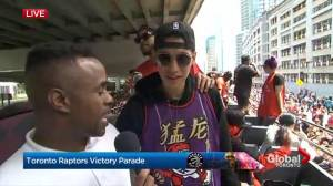 Raptors victory parade: Jeremy Lin talks about bringing a title to T.O.