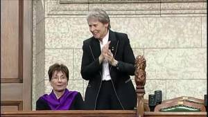 First Canadian female astronaut, Roberta Bondar, makes special visit to House of Commons