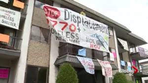 Housing protesters dig in over 'demoviction' notices in Burnaby