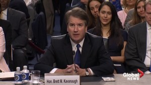 Trump's Supreme Court nominee Brett Kavanaugh makes remarks at confirmation hearing