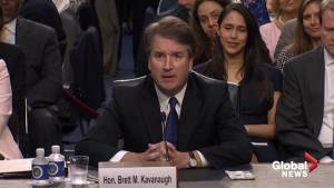 Trump's Supreme Court nominee Brett Kavanaugh makes remarks at confirmation hearing